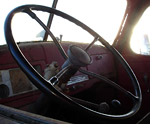Old truck steering wheel